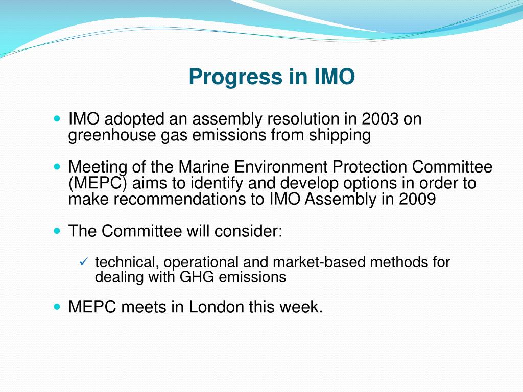 Progress in IMO