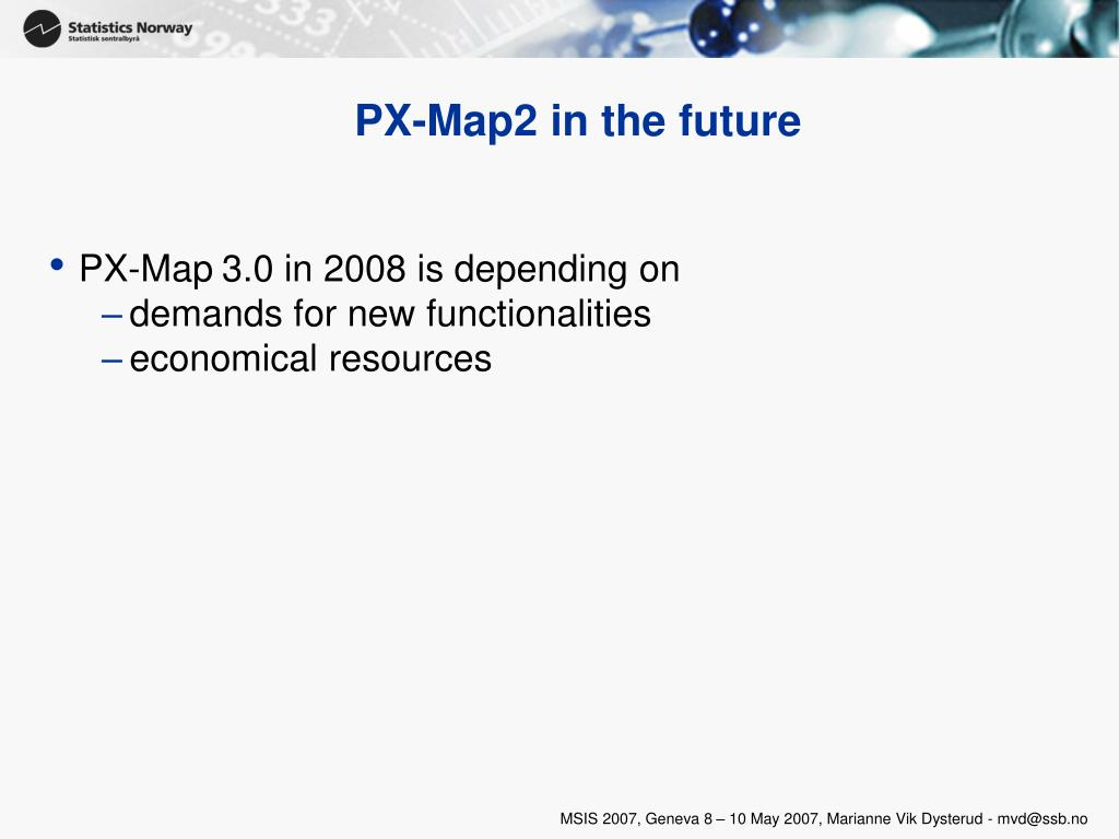 PX-Map2 in the future