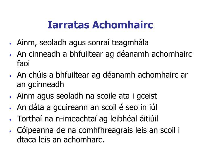 Iarratas Achomhairc
