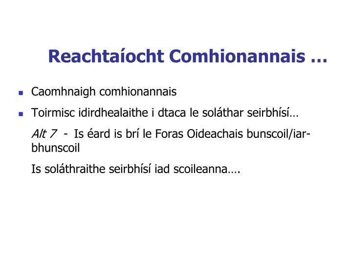 Reachtaíocht Comhionannais …