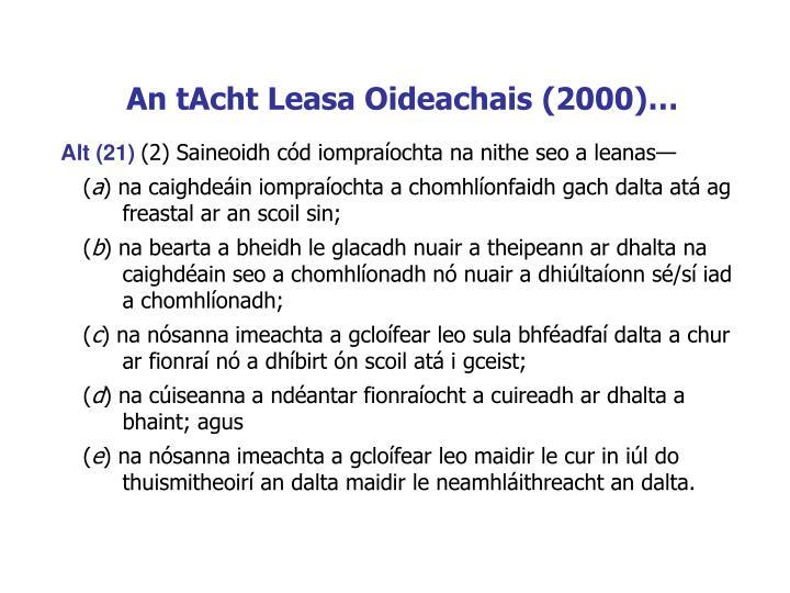 An tAcht Leasa Oideachais (2000)…