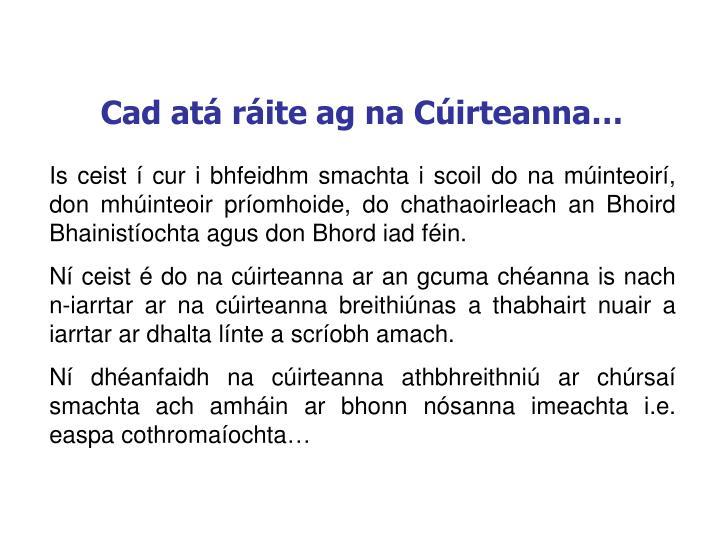 Cad atá ráite ag na Cúirteanna…