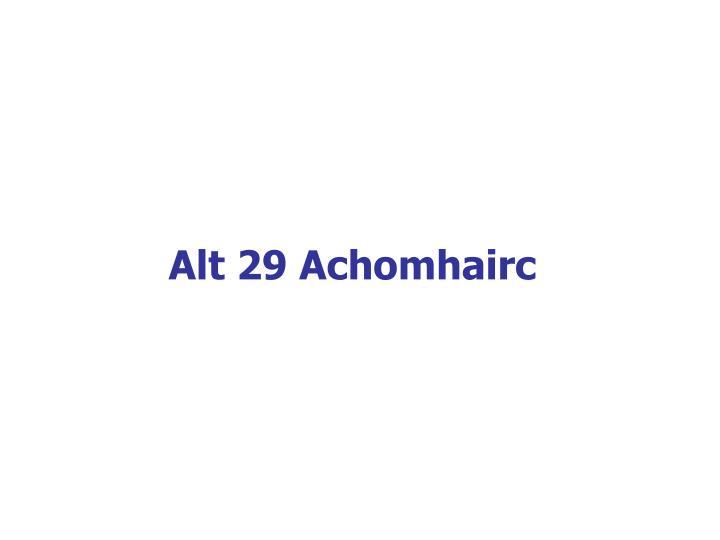 Alt 29 Achomhairc