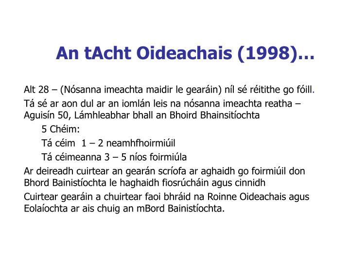 An tAcht Oideachais (1998)…