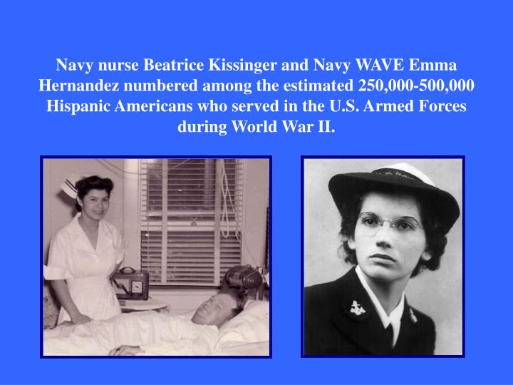 Navy nurse Beatrice Kissinger and Navy WAVE