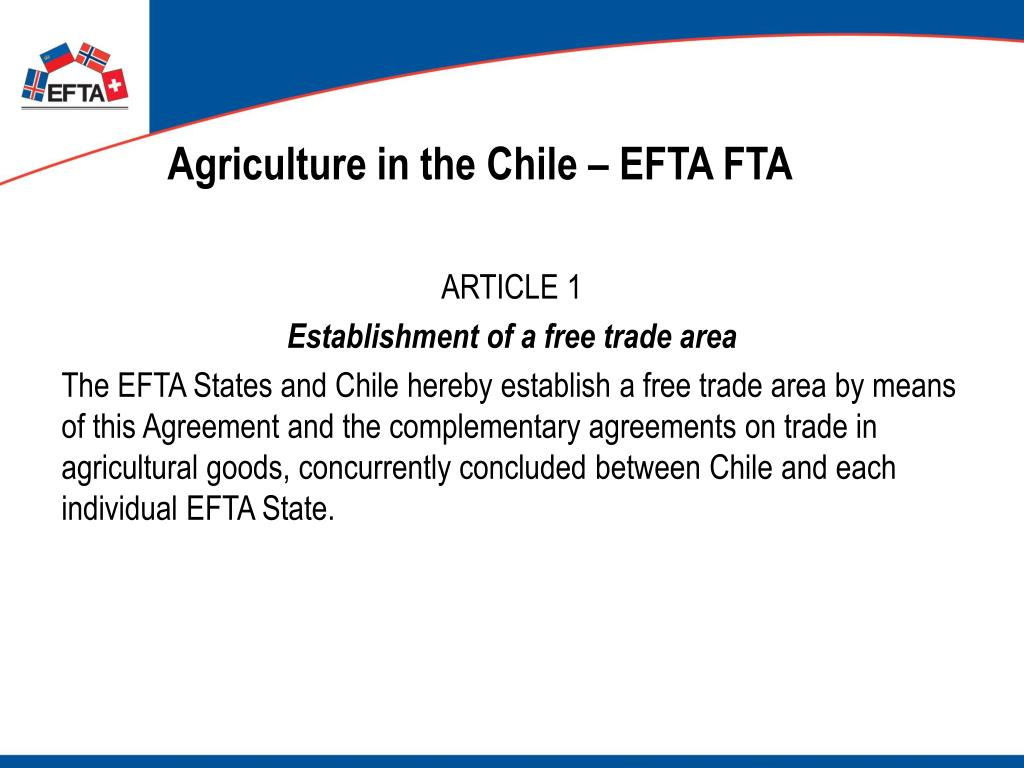 Agriculture in the Chile – EFTA FTA