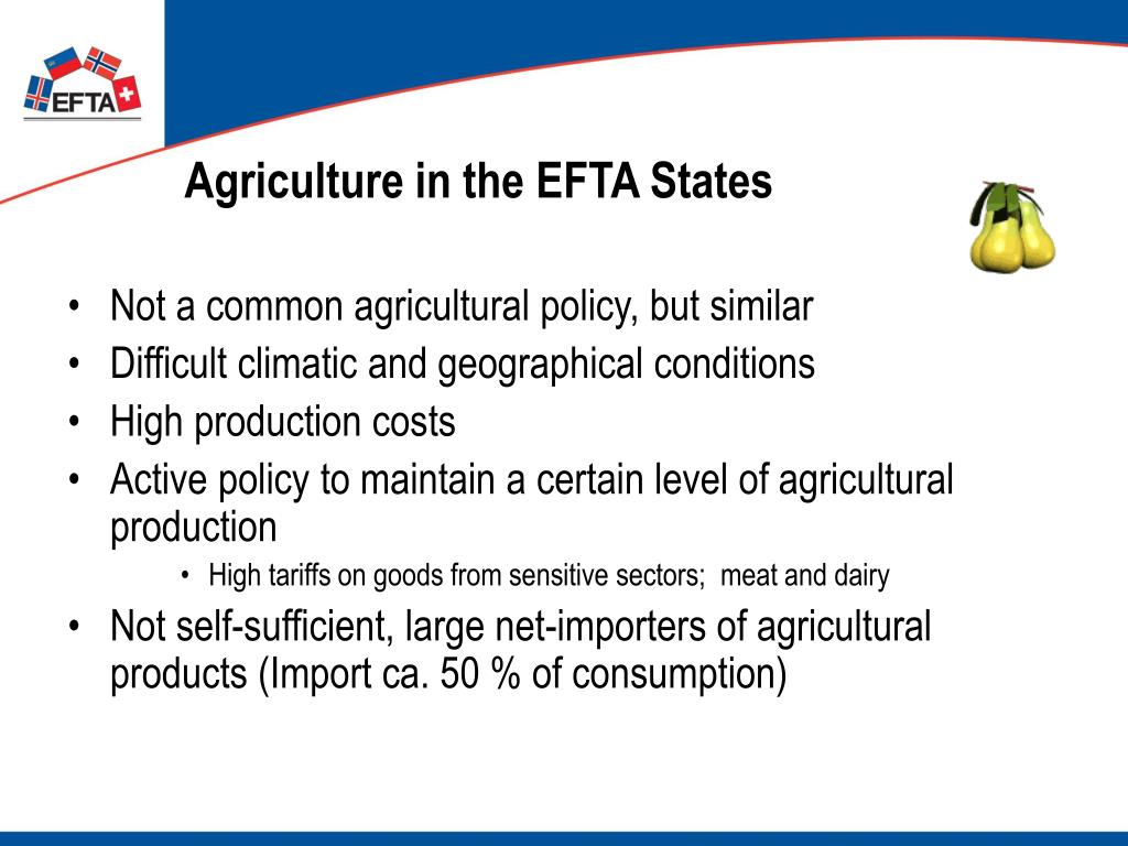 Agriculture in the EFTA States