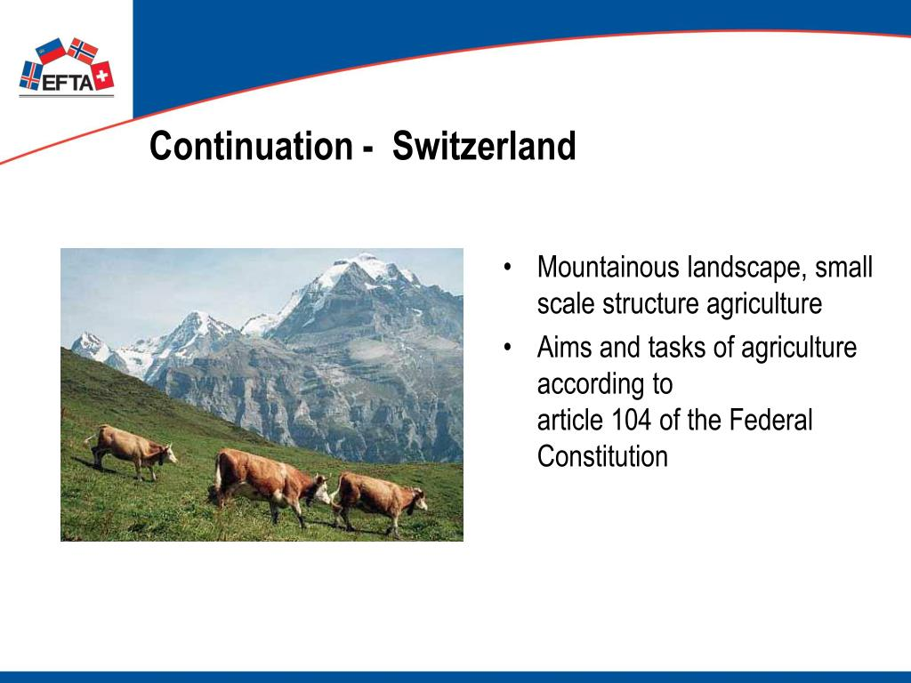 Continuation -  Switzerland