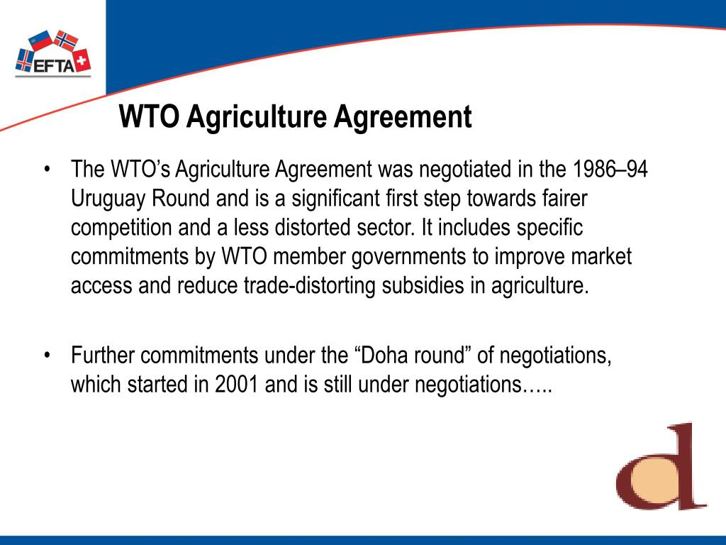 WTO Agriculture Agreement