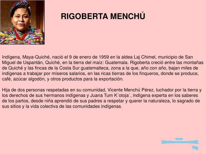 RIGOBERTA MENCH