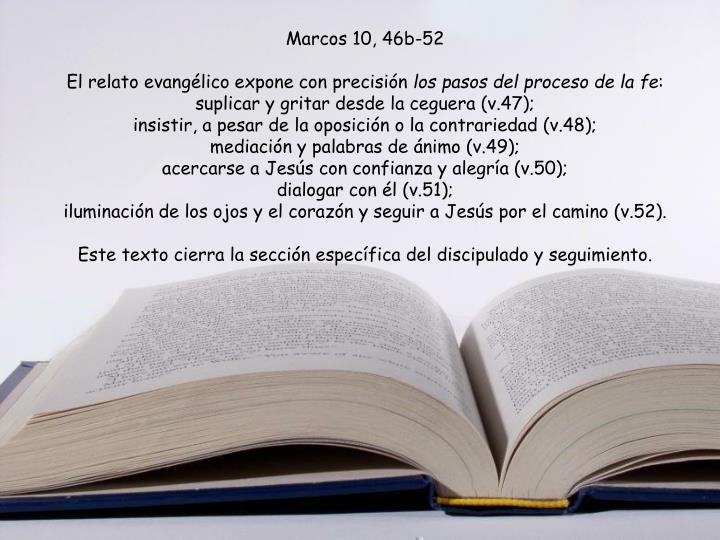 Marcos 10, 46b-52