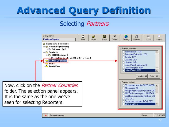 Advanced Query Definition