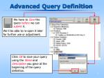 advanced query definition20