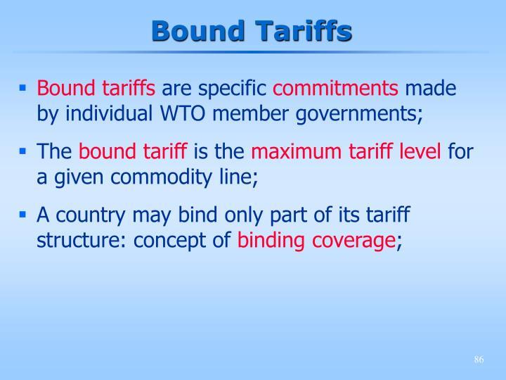 Bound Tariffs