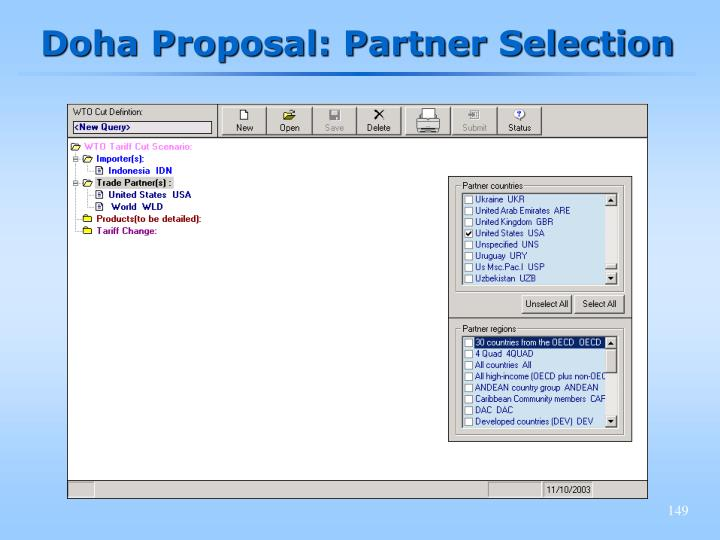 Doha Proposal: Partner Selection