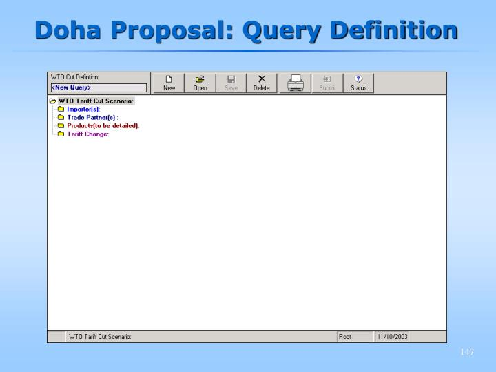Doha Proposal: Query Definition