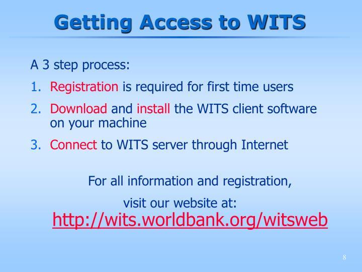 Getting Access to WITS