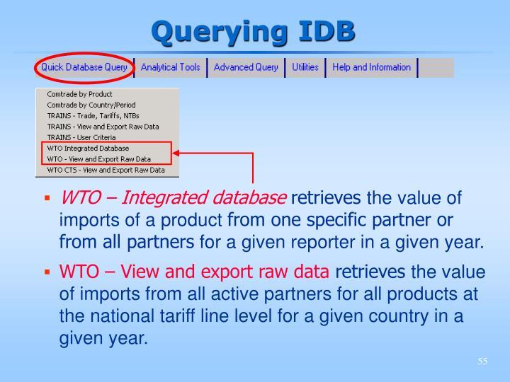 Querying IDB
