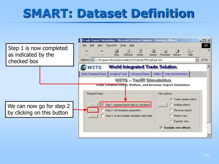 SMART: Dataset Definition