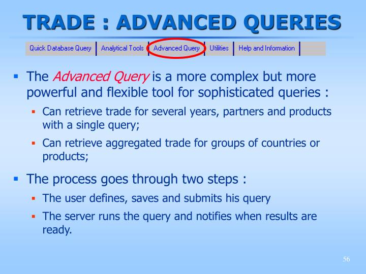 TRADE : ADVANCED QUERIES