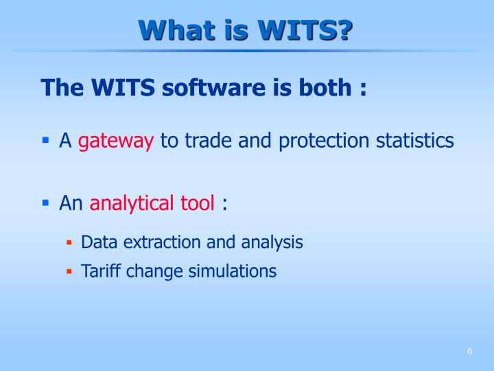 What is WITS?