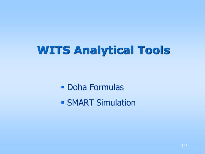 WITS Analytical Tools