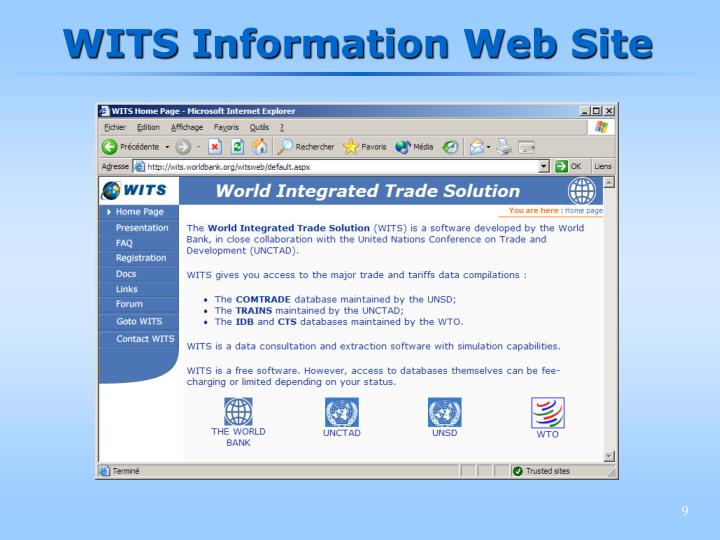 WITS Information Web Site