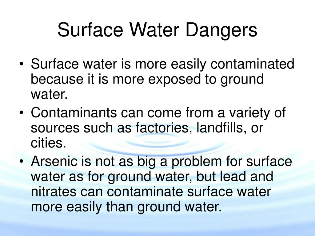 Surface Water Dangers