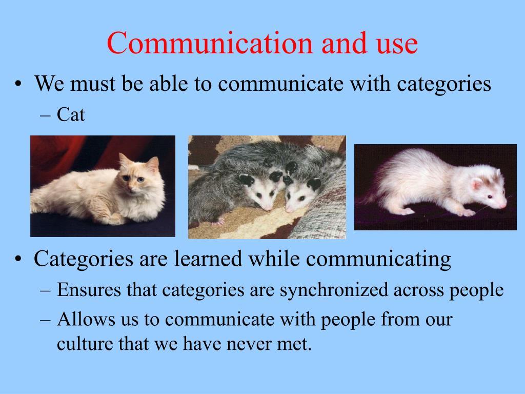 Communication and use
