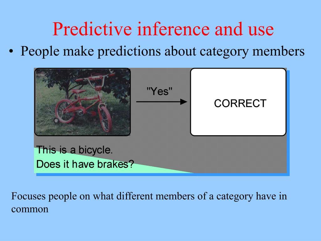 Predictive inference and use
