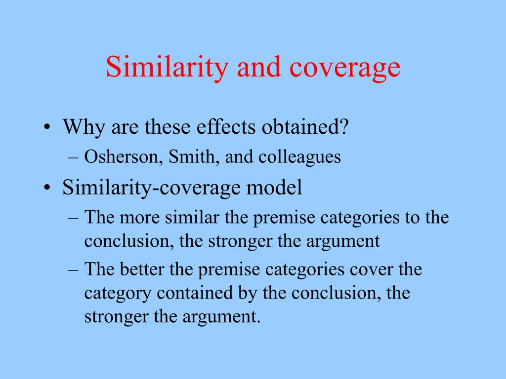 Similarity and coverage