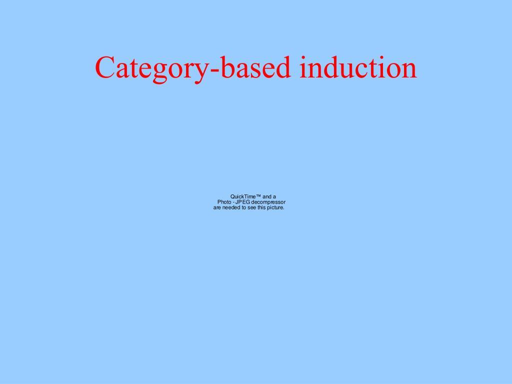 Category-based induction