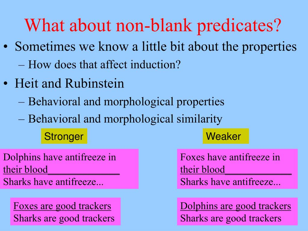 What about non-blank predicates?