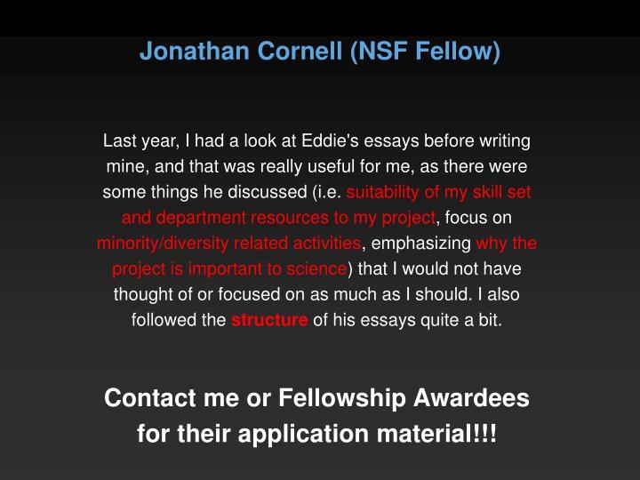 Jonathan Cornell (NSF Fellow)