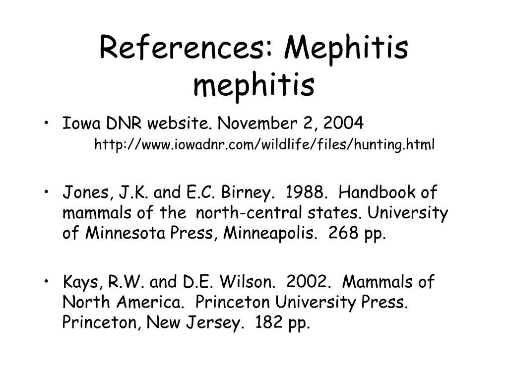 References: Mephitis mephitis