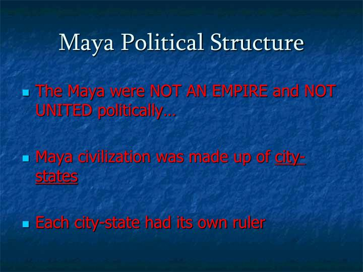 Maya Political Structure