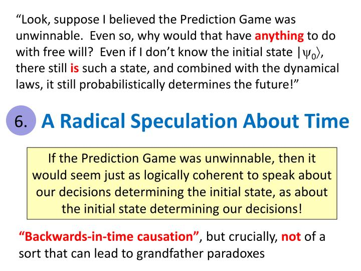 """Look, suppose I believed the Prediction Game was unwinnable.  Even so, why would that have"