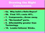 drawing the right conclusions8
