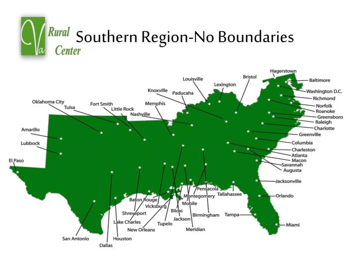 Southern region no boundaries