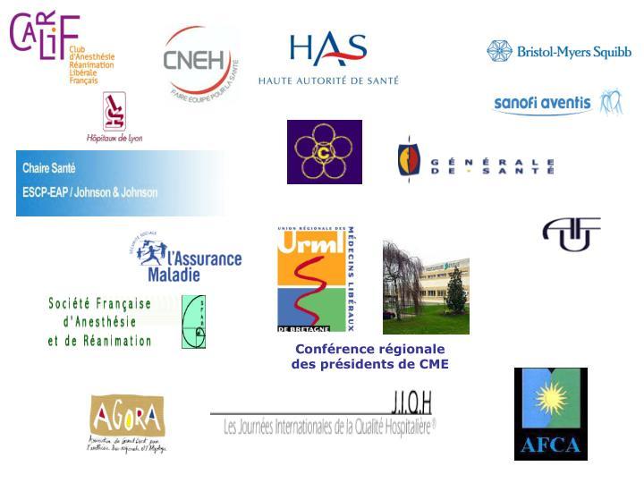 Conférence régionale des présidents de CME