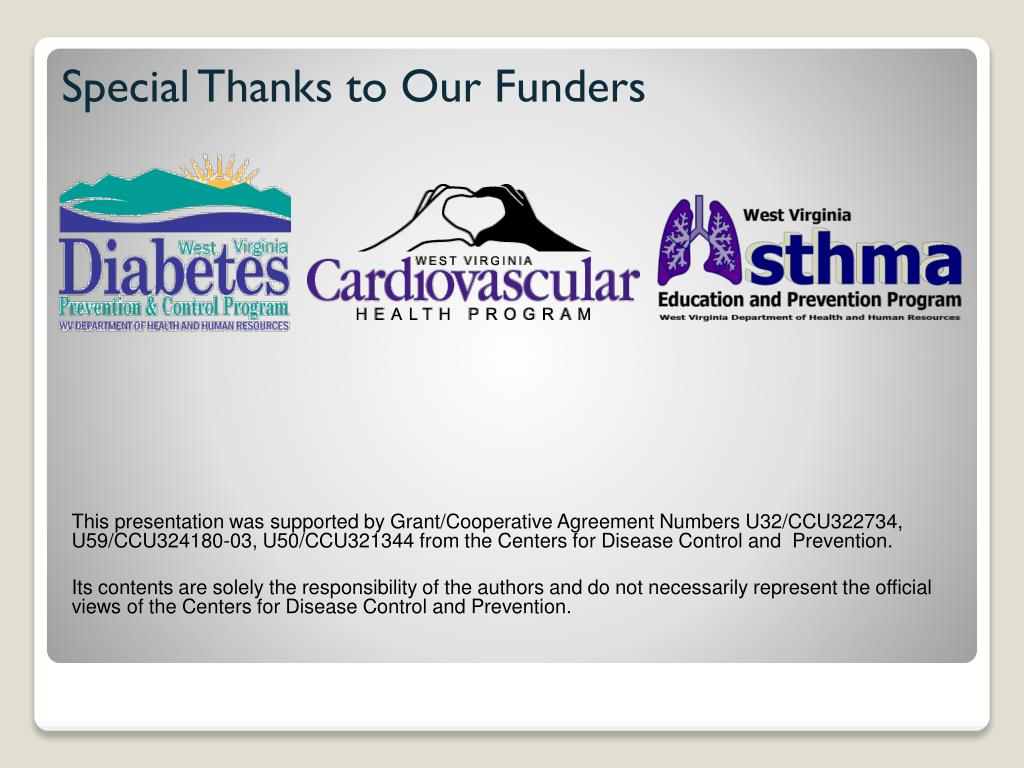 Special Thanks to Our Funders