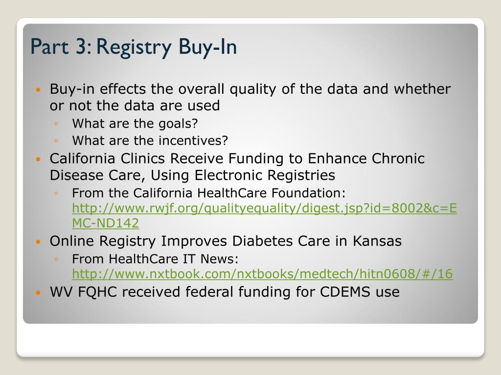 Part 3: Registry Buy-In