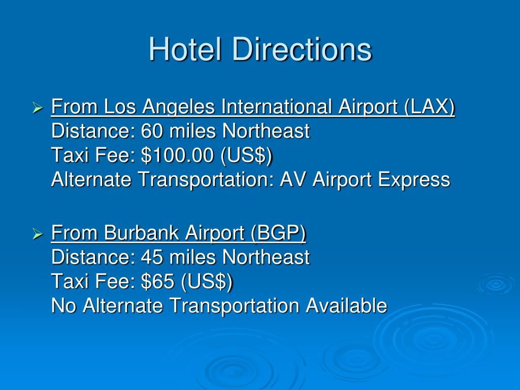 Hotel Directions