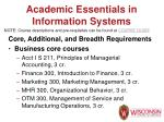 academic essentials in information systems