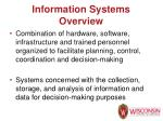 information systems overview