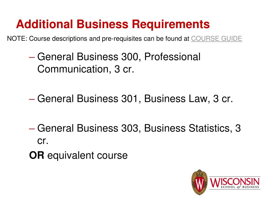 NOTE: Course descriptions and pre-requisites can be found at