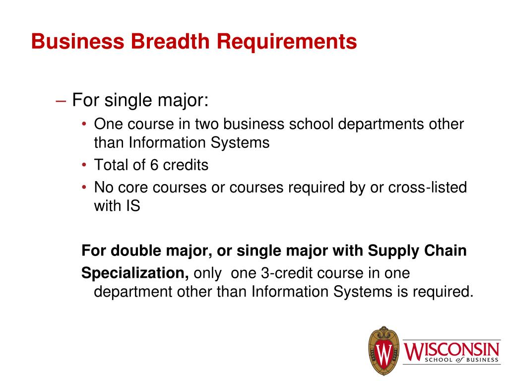 Business Breadth Requirements