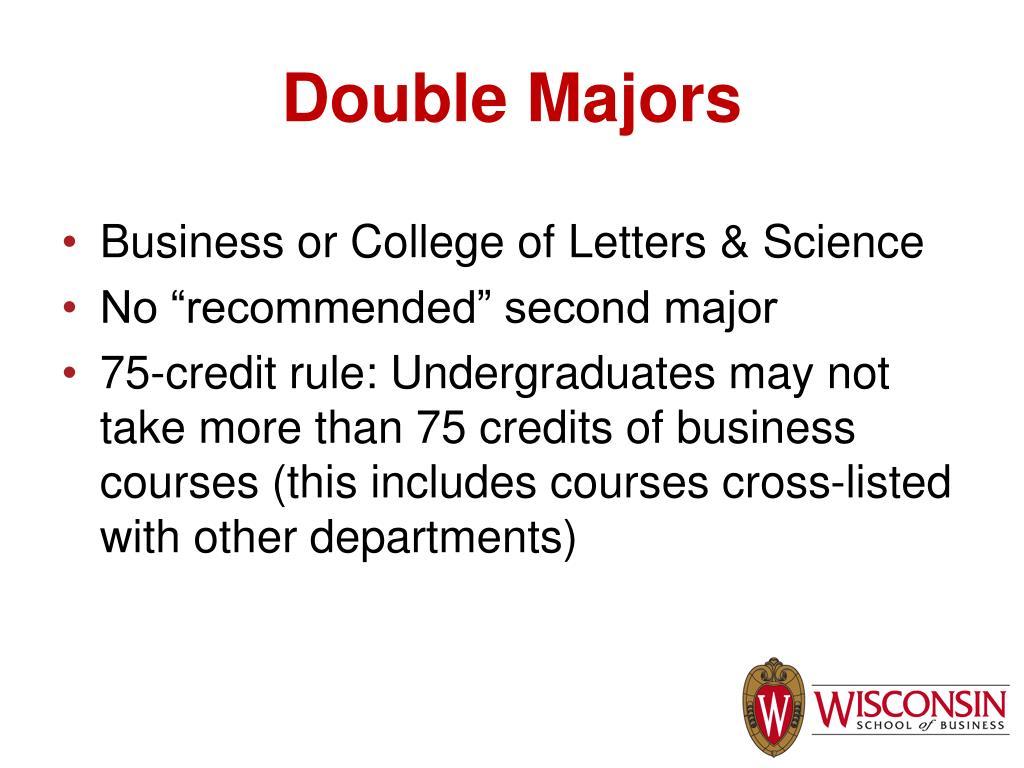 Double Majors