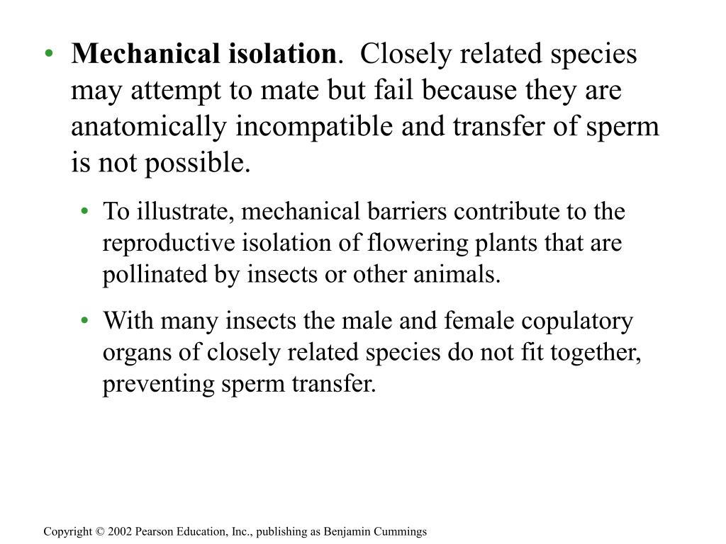 Mechanical isolation