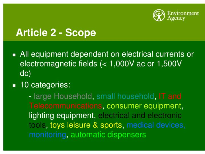 Article 2 - Scope